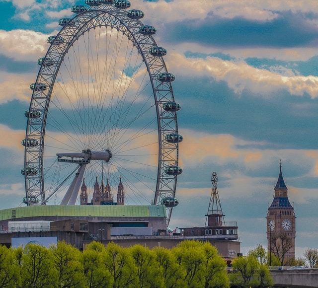 London eye med Big Ben i bakgrunden